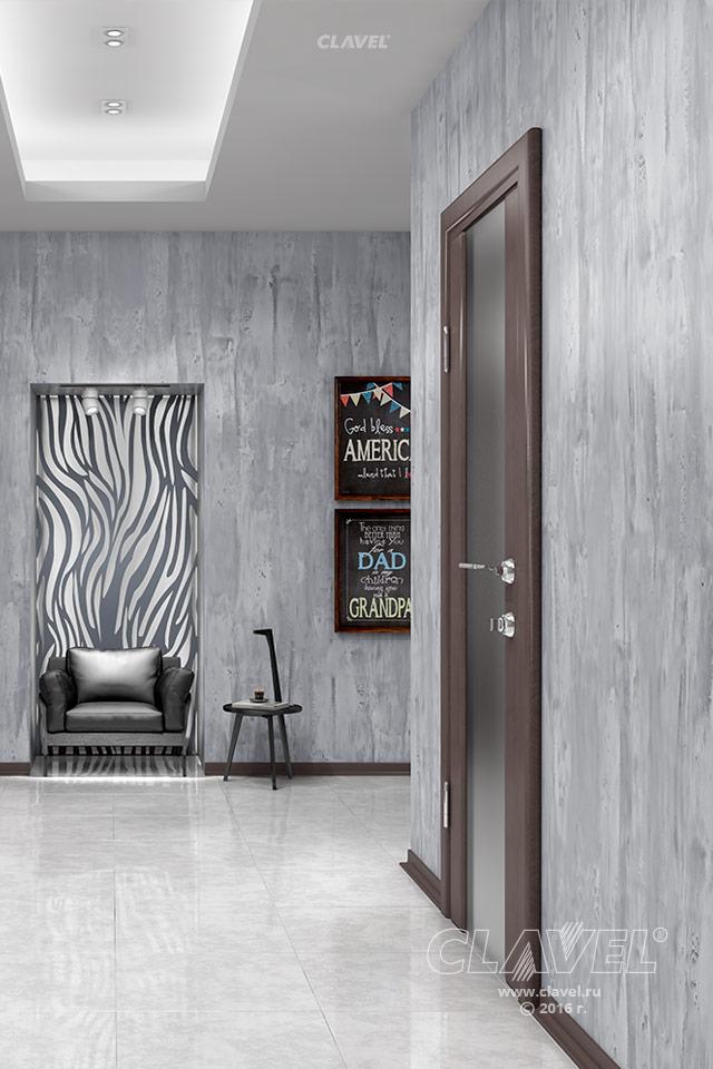 Декоративная краска с эффектом бетона - фото в интерьере. Коридор