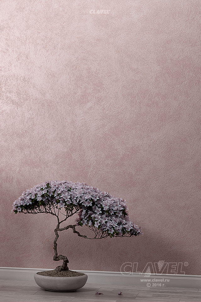 Декоративная краска с эффетом песчаных вихрей - фото в интерьере. Прихожая