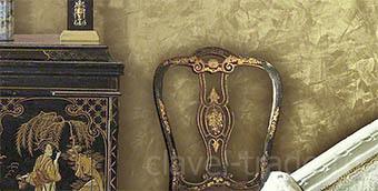 Венецианские штукатурки с эффектом золота - фото