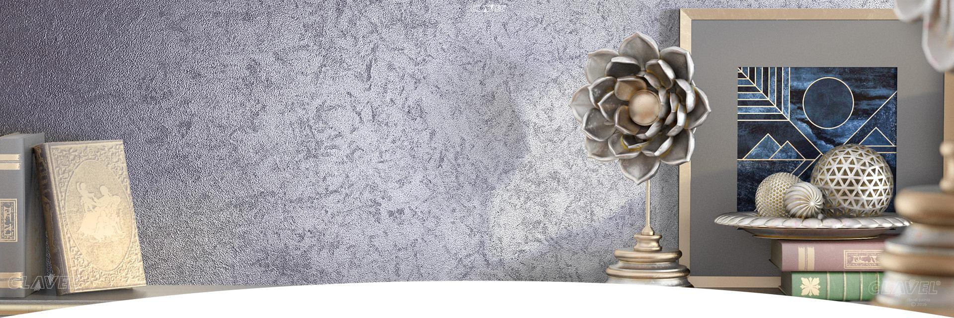 Декоративные краски с эффектом серебра - каталог эффектов