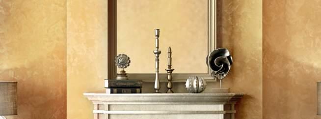 Декоративная штукатурка матовый шелк - фото в интерьере. Прихожая