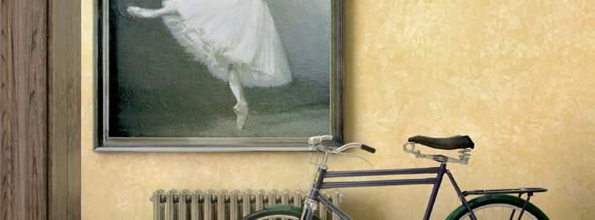 Декоративная краска матовый шелк - фото в интерьере. Прихожая